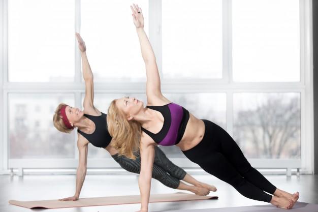 vientre hinchado, ejercicio, mujeres