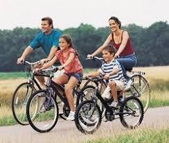 andando en bici